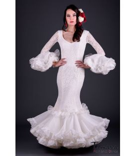 woman flamenco dresses 2019 - Roal - Carla Superior Ivory