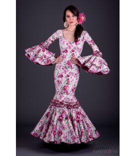 Flamenco dress Pasion Fuxia Flowers