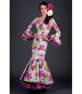 Flamenco dress Gitana Fuxia Flowers