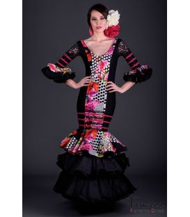 Flamenco dress Diamante Superior Black