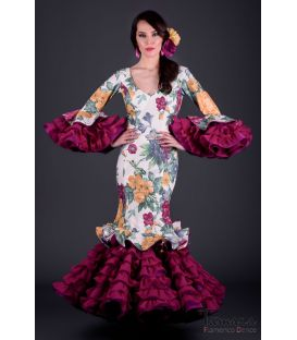 flamenca dresses 2018 for woman - Roal - Alhambra Printted flowers