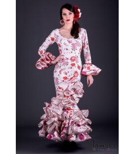 Flamenco dress Giralda Red Flowers