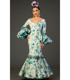 Flamenco dress Pasion Turquoise Flowers