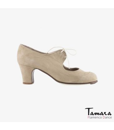flamenco shoes professional for woman - Begoña Cervera - Angelito suede chino classic