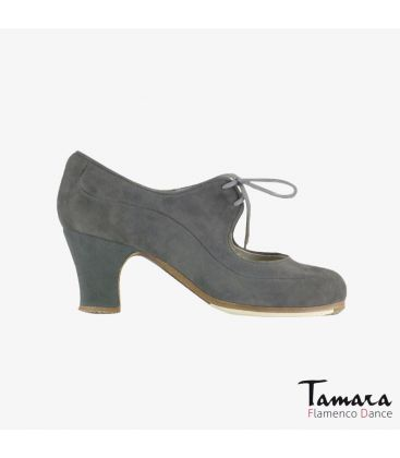 flamenco shoes professional for woman - Begoña Cervera - Angelito suede grey carrete