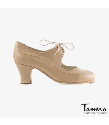 flamenco shoes professional for woman - Begoña Cervera - Angelito leather camel carrete