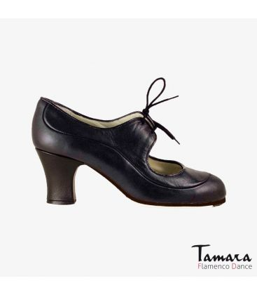 flamenco shoes professional for woman - Begoña Cervera - Angelito leather black carrete