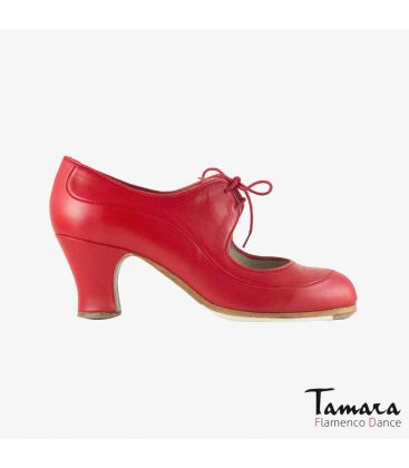 flamenco shoes professional for woman - Begoña Cervera - Angelito leather red carrete