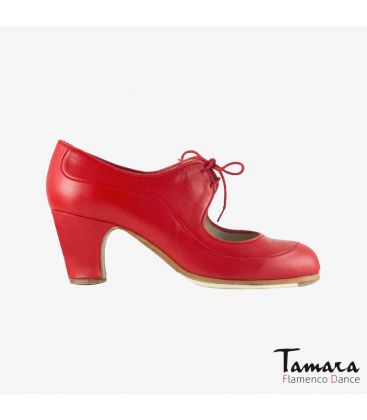 flamenco shoes professional for woman - Begoña Cervera - Angelito leather red classic