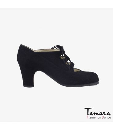 flamenco shoes professional for woman - Begoña Cervera - Antiguo suede black classic