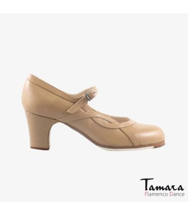 flamenco shoes professional for woman - Begoña Cervera - Arco I camel leather classic