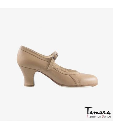 flamenco shoes professional for woman - Begoña Cervera - Arco I camel leather carrete