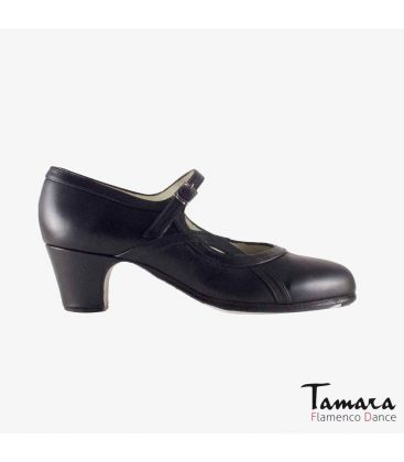 flamenco shoes professional for woman - Begoña Cervera - Arco I leather black classic 5cm