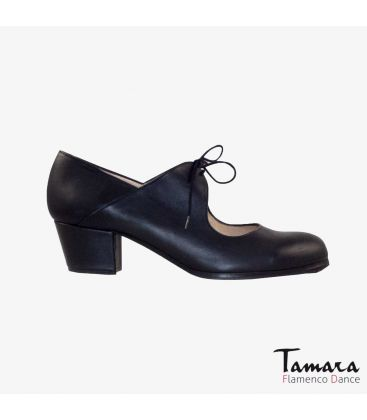 flamenco shoes professional for woman - Begoña Cervera - Arty black leather cubano heel