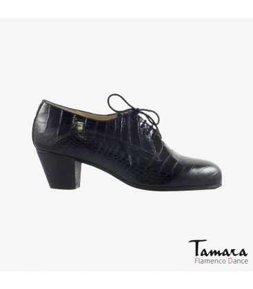 flamenco shoes for man - Begoña Cervera - Blucher Man black alligator