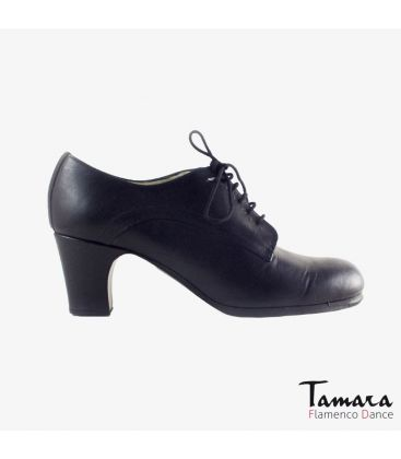 flamenco shoes professional for woman - Begoña Cervera - Butchler black leather classic heel