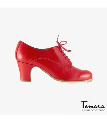 flamenco shoes professional for woman - Begoña Cervera - Butchler red leather classic heel