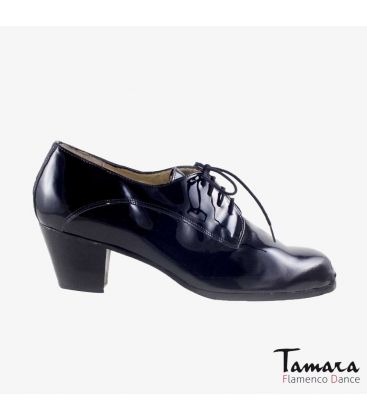 flamenco shoes for man - Begoña Cervera - Blucher Man black patent leather