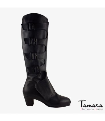 flamenco shoes for man - Begoña Cervera - Guerrero Boot black leather