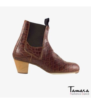 flamenco shoes for man - Begoña Cervera - Boto II brown alligator