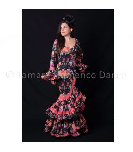 Flamenca black fuchsia flowers