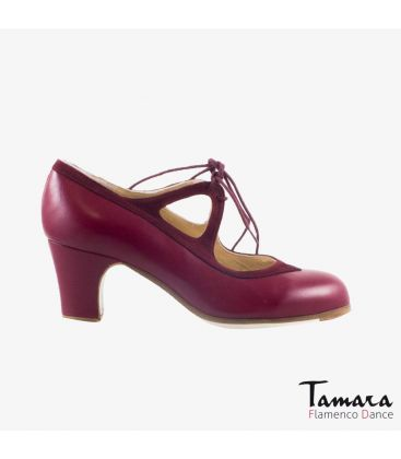 flamenco shoes professional for woman - Begoña Cervera - Candor valdemar leather and suede classic heel