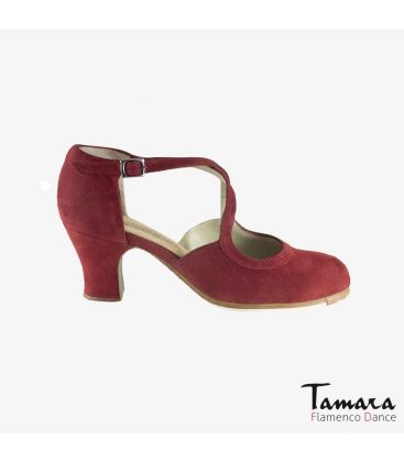 flamenco shoes professional for woman - Begoña Cervera - Clasico Español III valdemar suede carrete