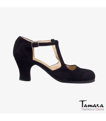 flamenco shoes professional for woman - Begoña Cervera - Clásico Español II black suede carrete