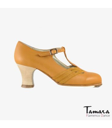 flamenco shoes professional for woman - Begoña Cervera - Class armagnac leather carrete wood