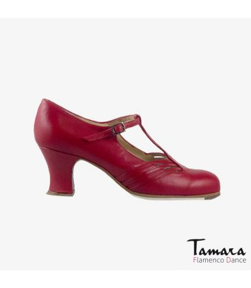 flamenco shoes professional for woman - Begoña Cervera - Class red leather carrete
