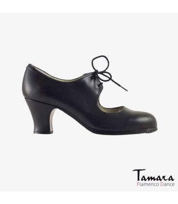 flamenco shoes professional for woman - Begoña Cervera - Cordonera black leather carrete