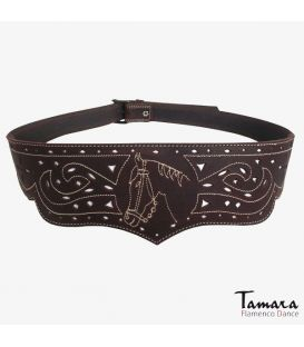 Leather belt Horse