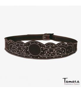 Leather belt Ondas