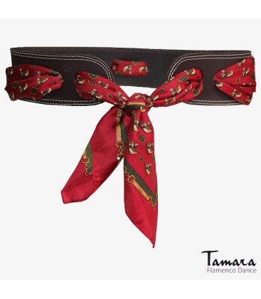 andalusian belts - - Leather belt with kerchief ( choose your color)