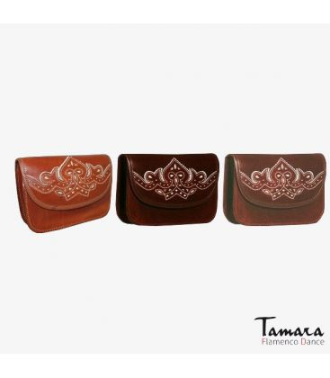 accesories for andalusian costumes - - Rociero Bag leather Desing 1