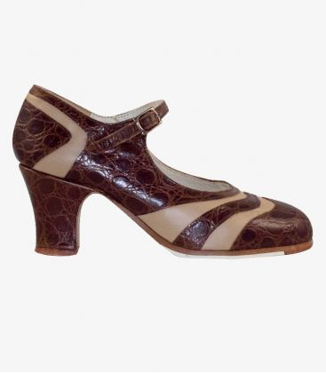 in stock flamenco shoes professionals - Begoña Cervera - Bicolor