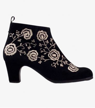 in stock flamenco shoes professionals - Begoña Cervera - Botin Bordado (Embroidered)