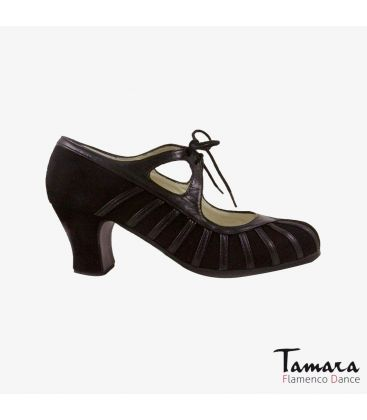 flamenco shoes professional for woman - Begoña Cervera - Primor brown suede and leather carrete
