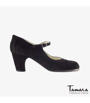 flamenco shoes professional for woman - Begoña Cervera - Salon Correa black suede classic heel