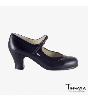flamenco shoes professional for woman - Begoña Cervera - Salon Correa II black leather carrete