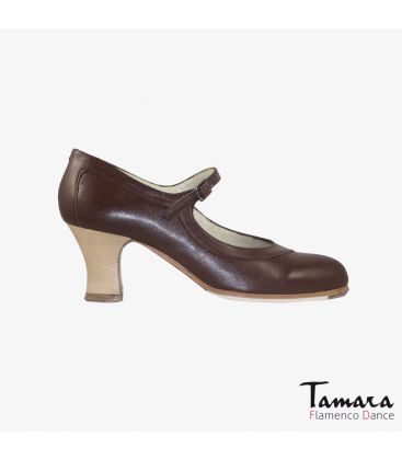 flamenco shoes professional for woman - Begoña Cervera - Salon Correa brown leather carrete