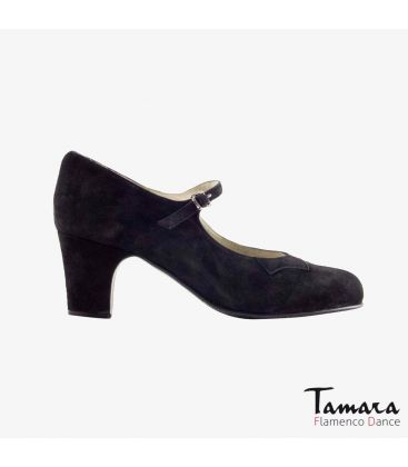 trainning flamenco shoes semiprofessional - Begoña Cervera - Semiprofessional (Begoña Cervera) black suede classic heel