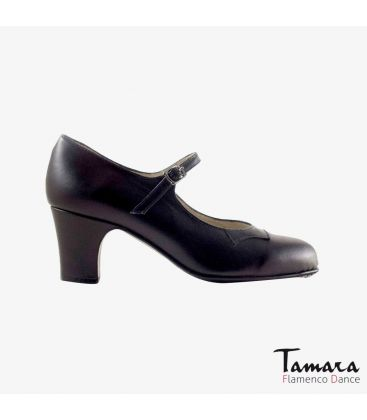 trainning flamenco shoes semiprofessional - Begoña Cervera - Semiprofessional (Begoña Cervera) black leather classic heel