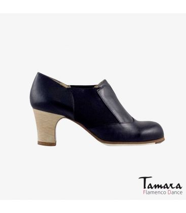 flamenco shoes professional for woman - Begoña Cervera - Suave Señora (WOMEN) (Soft) black leather classic wood heel