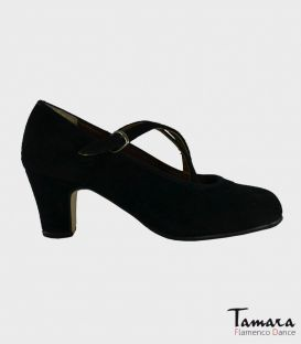 trainning flamenco shoes semiprofessional - - High Semiprofessional Suede - Crossed TAMARA