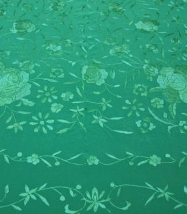 shawl 1 only colour - - Manila Shawls Floral Andalusian Green
