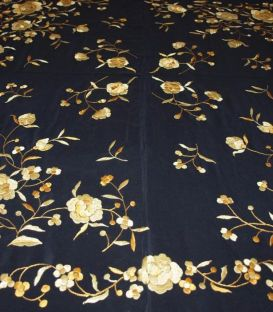 manila shawls - - Manila Shawls - Black with gold
