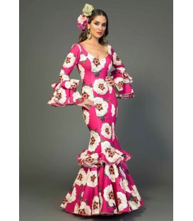 Flamenca dress Marbella flowers