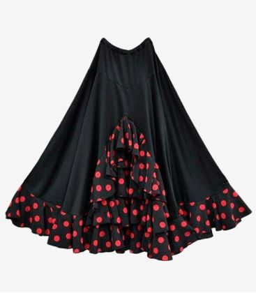 flamenco skirts for woman - - Temple with polka dots - Knitted and koshivo
