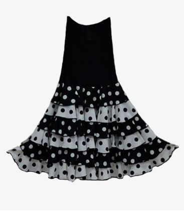 flamenco skirts for woman - - Zingara with polka dots - Lycra and koshivo